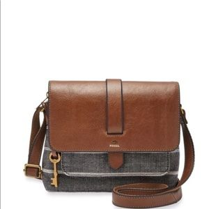 NEW Fossil Chambray Kinley Crossbody